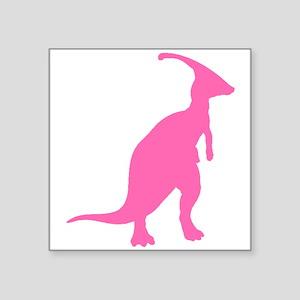 Parasaurolophus Silhouette (Pink) Sticker