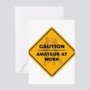 Amateur at Work Greeting Cards