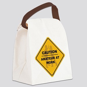 Amateur at Work Canvas Lunch Bag