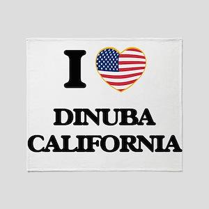 I love Dinuba California USA Design Throw Blanket