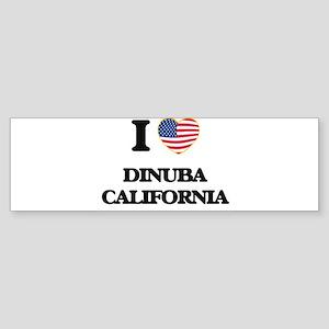 I love Dinuba California USA Design Bumper Sticker