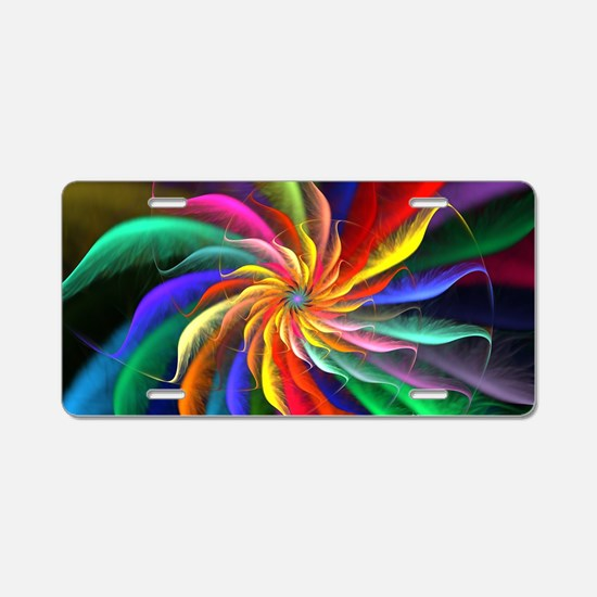 The Color Spiral Aluminum License Plate
