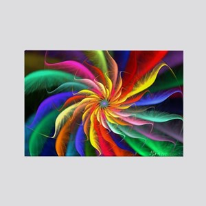The Color Spiral Rectangle Magnet
