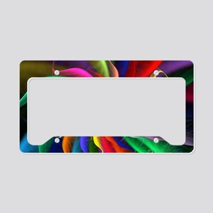 The Color Spiral License Plate Holder