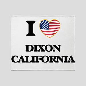 I love Dixon California USA Design Throw Blanket