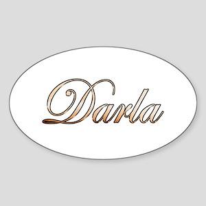 Gold Darla Sticker