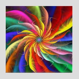 The Color Spiral Tile Coaster