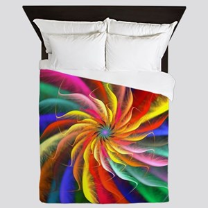 The Color Spiral Queen Duvet
