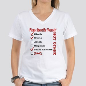 PleaseID-BWNa Women's V-Neck T-Shirt