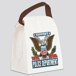 Support Your Local Police Canvas Lunch Bag