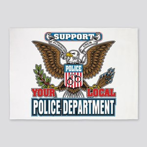 Support Your Local Police 5'x7'Area Rug