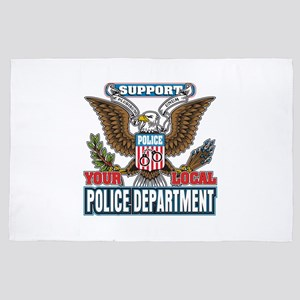 Support Your Local Police 4' x 6' Rug