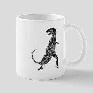 Distressed Tyrannosaurus Rex Silhouette Mugs
