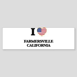 I love Farmersville California USA Bumper Sticker