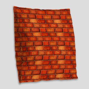 Brick Wall Burlap Throw Pillow