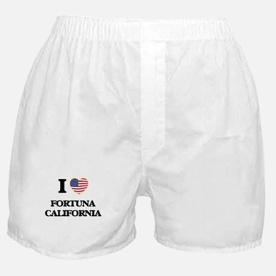I love Fortuna California USA Design Boxer Shorts
