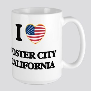 I love Foster City California USA Design Mugs
