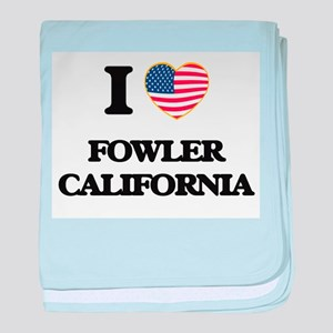 I love Fowler California USA Design baby blanket