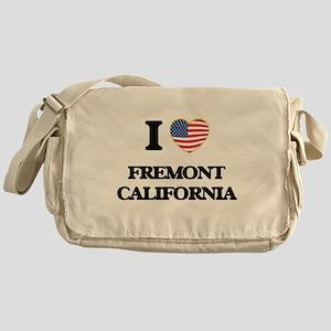 I love Fremont California USA Design Messenger Bag