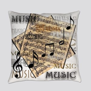 Vintage Music Everyday Pillow