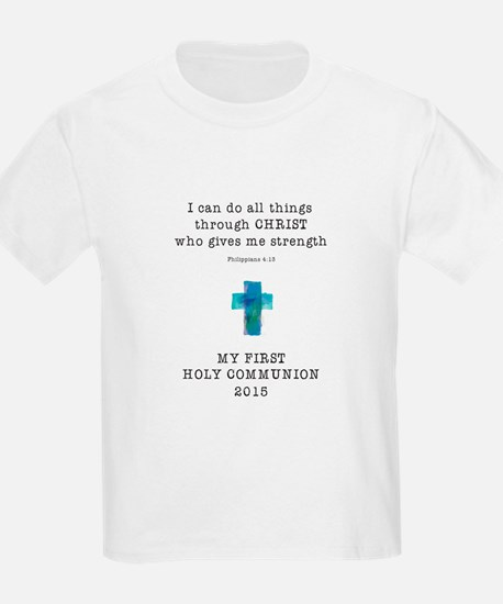 First Communion Blue I Can Do A T-Shirt