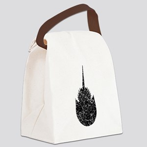 Distressed Horseshoe Crab Silhouette Canvas Lunch