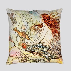 Vintage Mermaid Everyday Pillow