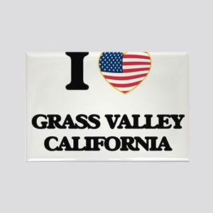I love Grass Valley California USA Design Magnets