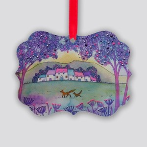 Foxes Picture Ornament