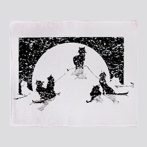 Distressed Cats Silhouette Throw Blanket