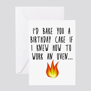 I Can't Work the Oven Greeting Cards