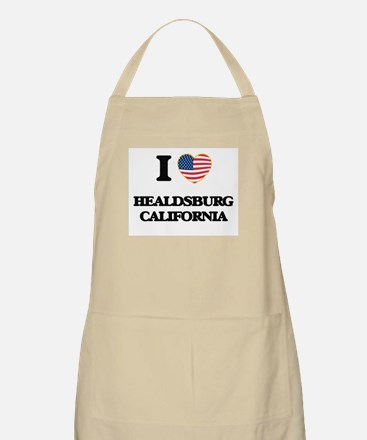 I love Healdsburg California USA Design Apron