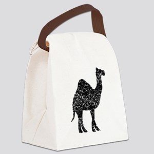 Distressed Camel Silhouette Canvas Lunch Bag