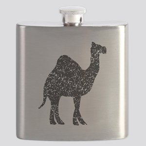 Distressed Camel Silhouette Flask
