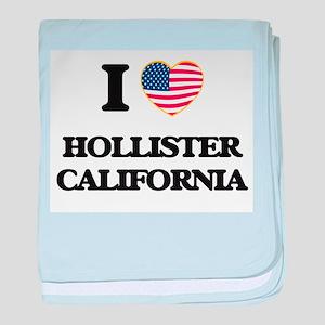 I love Hollister California USA Desig baby blanket