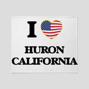 I love Huron California USA Design Throw Blanket