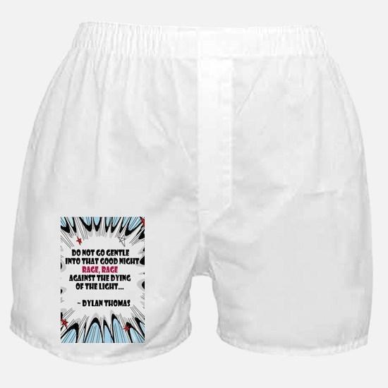 Do Not Go Gentle Boxer Shorts