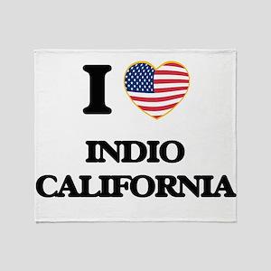 I love Indio California USA Design Throw Blanket