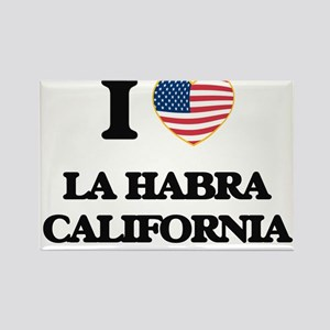 I love La Habra California USA Design Magnets