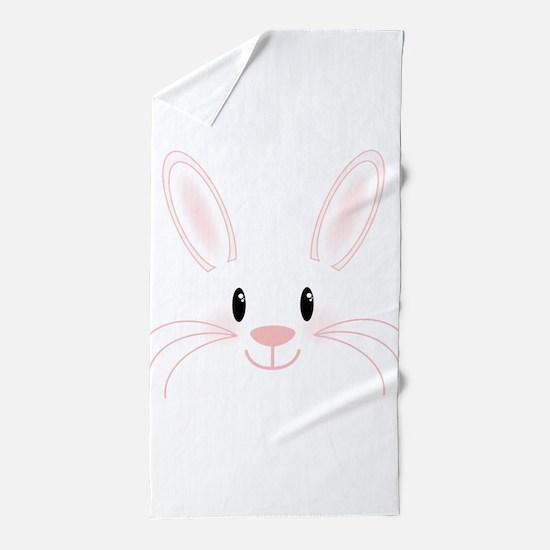 Bunny Face Beach Towel