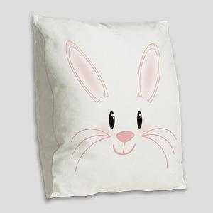 Bunny Face Burlap Throw Pillow