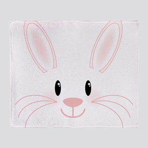 Bunny Face Throw Blanket