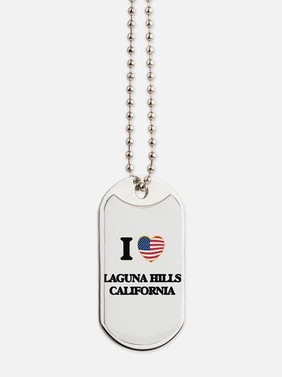 I love Laguna Hills California USA Design Dog Tags