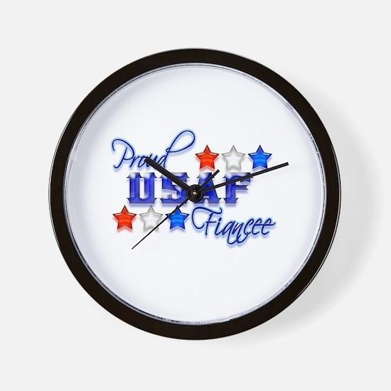 USAF Fiancee Wall Clock