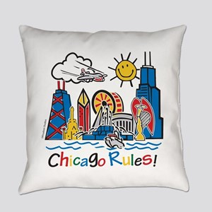 Chicago Rules Everyday Pillow