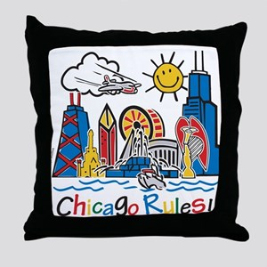Chicago Rules Throw Pillow