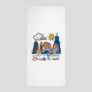 Chicago Rules Beach Towel