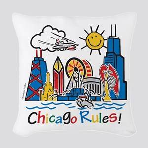 Chicago Rules Woven Throw Pillow