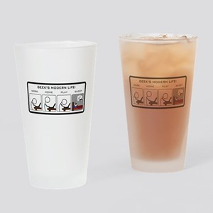 Geek's Modern Life Drinking Glass