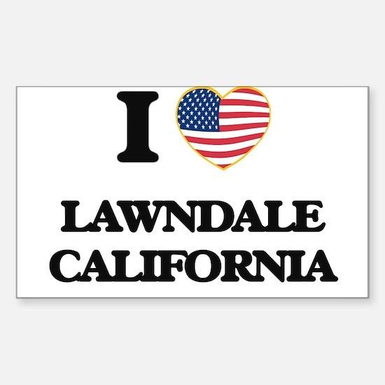 I love Lawndale California USA Design Decal